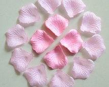 1000 pcs Light Pink Rose Petals Artificial Flower Petals Wedding Cake Table Centerpiece Decor Petals