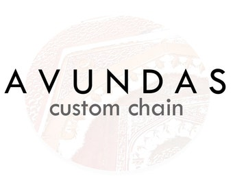 ADD-ON: Custom Chain (must be paired with a necklace purchase!)
