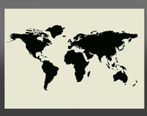 World Map Stencil - Various Sizes -Made From High Quality Mylar