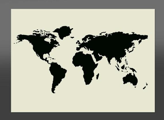 World Map Cake Stencil Uk