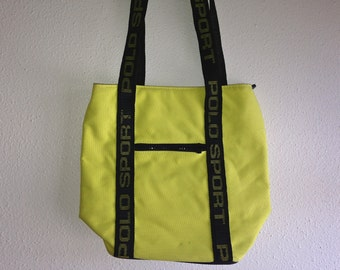 highlighter yellow polo sport shoulder bag