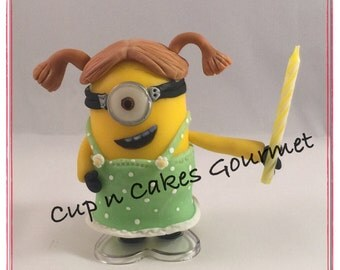 Minions (Despicable me )  Cake Topper / Candle