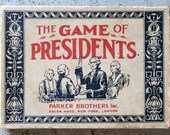 Rare 1920s The Game of the Presidents Card Game