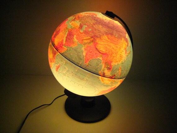 vintage scan globe a s danemark globe terrestre lumineux. Black Bedroom Furniture Sets. Home Design Ideas