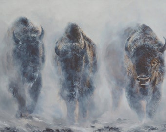 Giants in the Mist - Limited Edition of 95 Signed and Numbered Giclee Print
