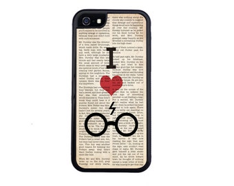 I Heart Harry Potter Phone Case Design Choose iPhone 4/4s, 5/5s, 5c, 6/6s, 6/6s Plus, 7 or 7 Plus.