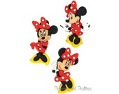Disney Minnie Mouse - Dress It Up - Licensed Embellishments - Disney Craft Sewing Scrapbooking Button Mickey - 302633