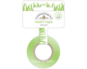 Green Grass Washi Tape - Doodlebug - 12 yds - Sunkissed Collection - Scrapbooking Embellishment Gift Wrapping - 129379