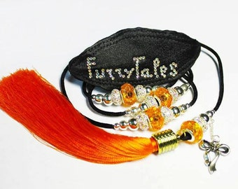 Show leash for small dogs with a dog name on the collar/show lead with dog name , fancy show leash with dog name/bling show leash with name