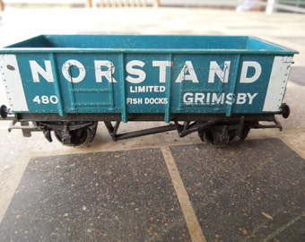 Vintage Model Train Car, British, OO Scale, Norstand Grimsby.  Hornby.  Made in England