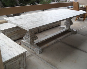 Custom made Table from reclaimed wood made in the USA
