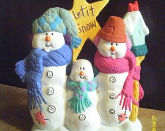 """Snowmen Decoration """"Let It Snow"""""""