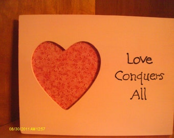 Love Conquers All Heart Picture Frame