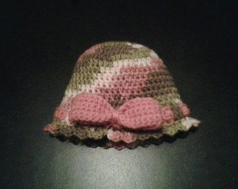 Baby Camo Bow Hat