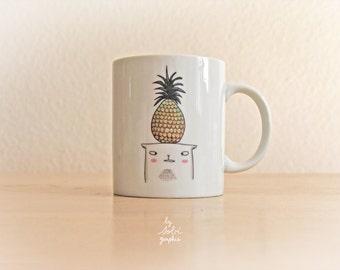 "Mug ""Pineapple cat"""