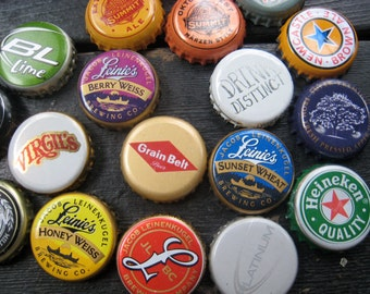 Father's Day Gift - Beer Bottle Cap Magnets - Six Pack - Gift for Guys - Colorful Bar Decorations - Gifts for Dad - Man Cave Decorations