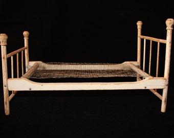 Vintage Wooden Doll Bed