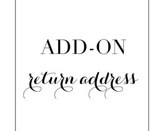 Add-on return address
