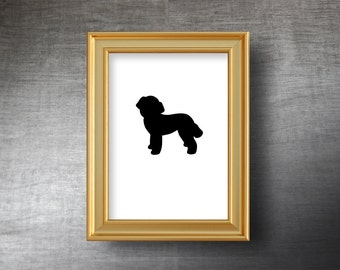 French Poodle Wall Art 5x7 - Hand Cut Poodle Silhouette Portrait - Personalized Name or Text Optional