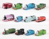Thomas & Friends CAKE TOPPER Thomas Train 12 Mini Figure Set Birthday Party Cupcakes Figurines Trains * FAST Shipping *  1.5 - 2 inch