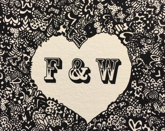 Wedding/ Anniversary/ Engagement/ I love you Card F&W