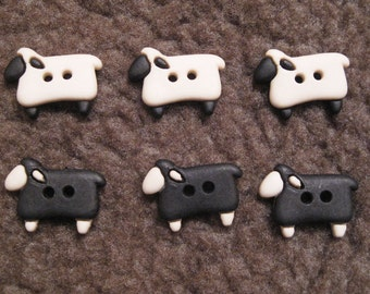Sheep Black and Beige X 6 ( as the picture )