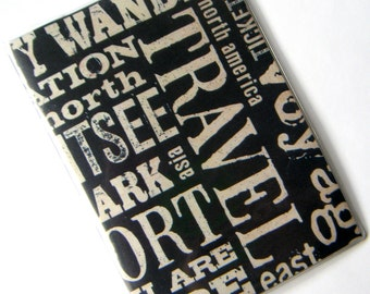 Passport Cover Case Holder -- Travel Words