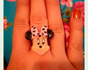 Mouse Character Adjustable Ring
