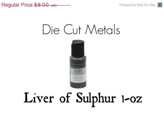 sale liver of sulphur gel to darken your copper by diecutmetals. Black Bedroom Furniture Sets. Home Design Ideas