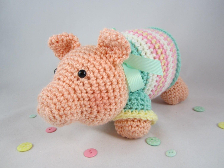 Crochet Pig Amigurumi Pig Stuffed Pig Crochet Stuffed