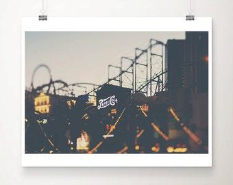 las vegas photograph las vegas print travel photography hotel photograph retro sign photograph roller coaster photograph