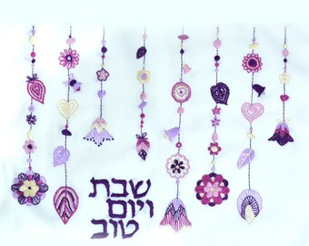 Embroidery kit-26. Challah cover for shabbat, 16 by 20 inch (40 by 50 cm) freestyle incl. threads, needle, instructions, stitch diagrams, ,