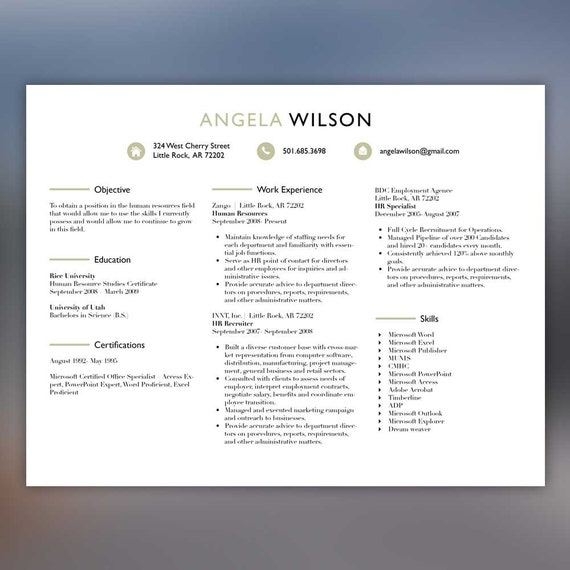 creative resume template professional resume instant download
