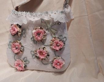 Vines and Flowers Handbag Purse