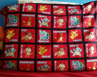 Pokemon Pillowcase/red /pikachu/charmander/ squirtle