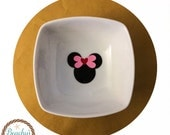"""Ring / Earring Dish, 3.5"""", Miss Mouse, Custom, Personalized"""