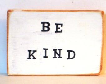 Wood Word Art,Be Kind,Small Wood Sign,Reclaim Wood Art,Wood Block Art,Boho Decor,Sayings On Wood,Virtues Sign,Bohemian Art,Freestanding Sign