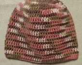Simple Crochet Hat - Pink Camo