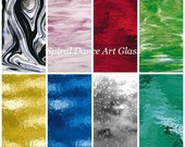 """8 Sheet Glass Pack 6"""" x 8"""" SPECTRUM STAINED GLASS Opals & Cathedrals"""