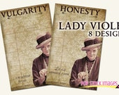 DOWNTON ABBEY Inspired - Printable Library Cards Dowager Countess Quotes - Journal Cards - Pocket Journals - Lady Violet Crawley Quotes