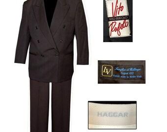 ON SALE!-Mens Double Breasted Suit / Mad Men Suit / Retro Suit / Gangster Suit