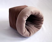 cosy sleeping bag / cuddle sack for guinea pigs, hedgehogs or sugar gliders (chocolate/coyote)