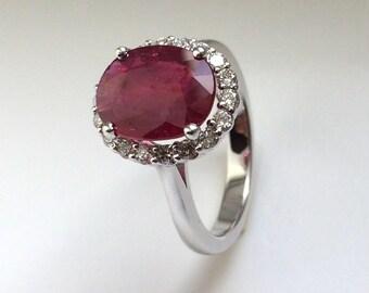 Certified 6 Carat Paraiba Tourmaline Ring And Diamonds