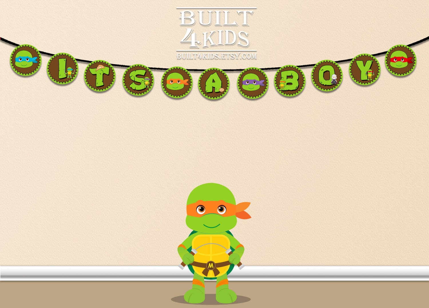 Etsy Ninja Turtle Invitations as awesome invitations layout