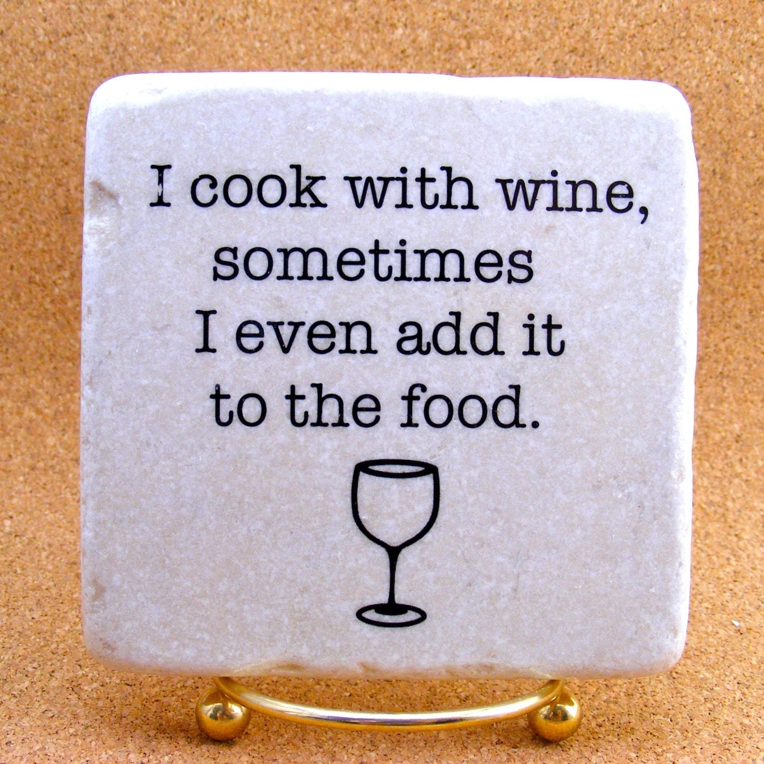 Misery Loves Company Quotes: Funny Witty Wine Drinker Decorative Tile Quote Marble Coaster