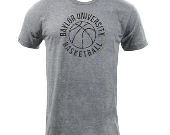 Baylor Retro BBall - Athletic Grey