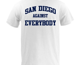 San Diego Against Everybody - Navy on White