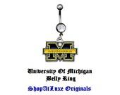 University Of Michigan Logo Handmade Navel Ring