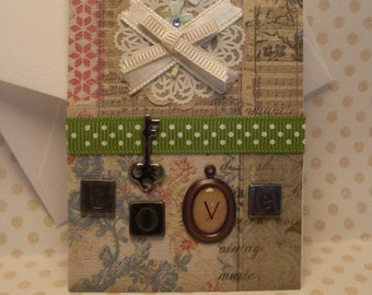 Love / Wedding Gift Card Holder (Mini Card)