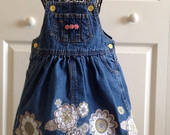 Upcycled denim dress.  Girls size 2.